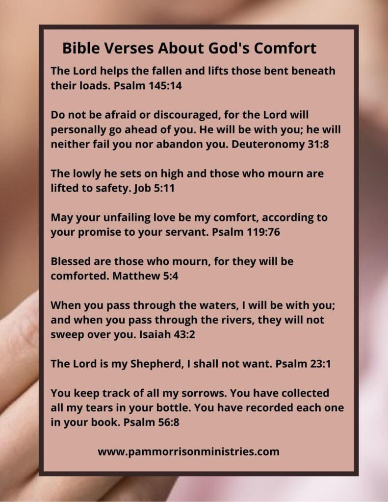 Bible Verses About Gods Comfort